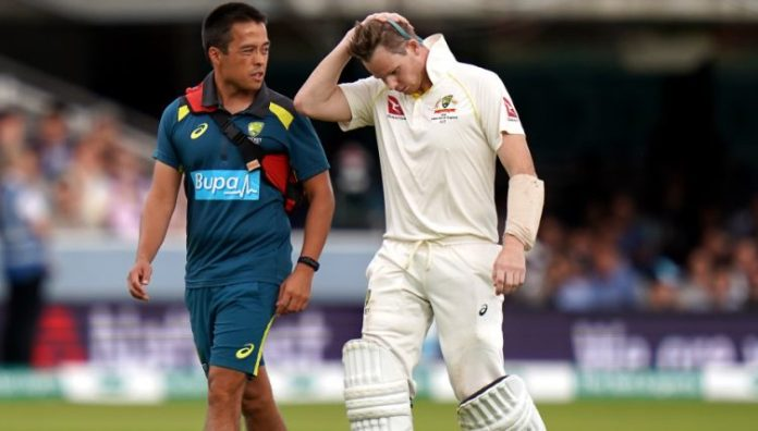 Smith.Retires.Hurt .2.PA  752x428 - Labuschagne replaces concussed Smith in Aussie team