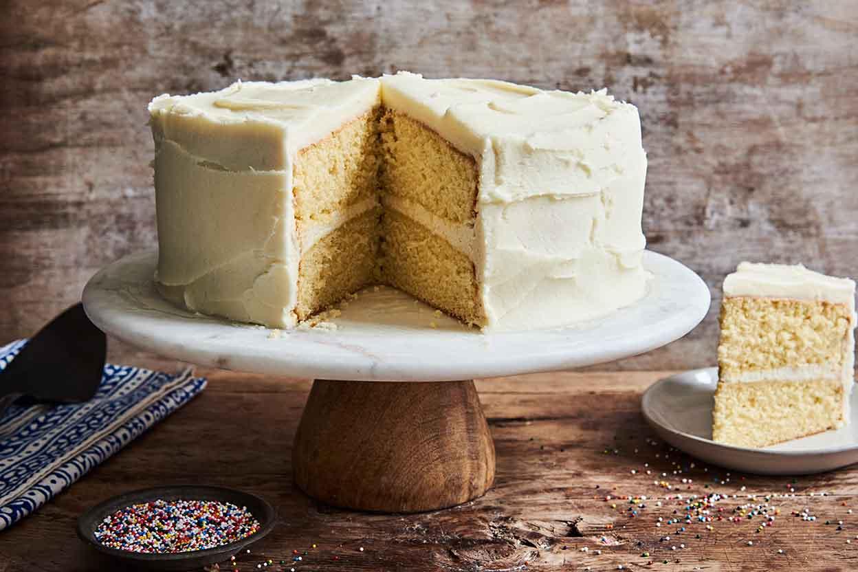 Golden Vanilla Cake Recipe King Arthur Flour