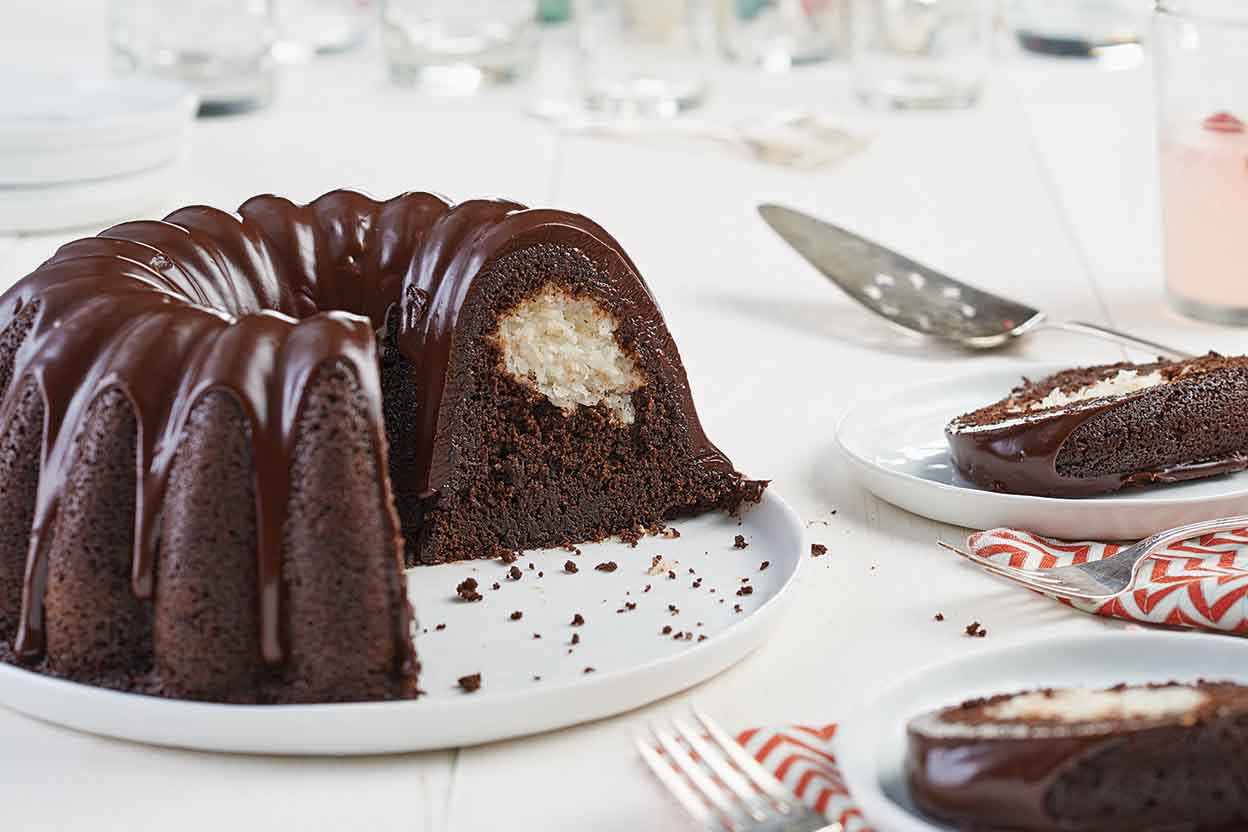 Chocolate Macaroon Bundt Cake Recipe King Arthur Flour