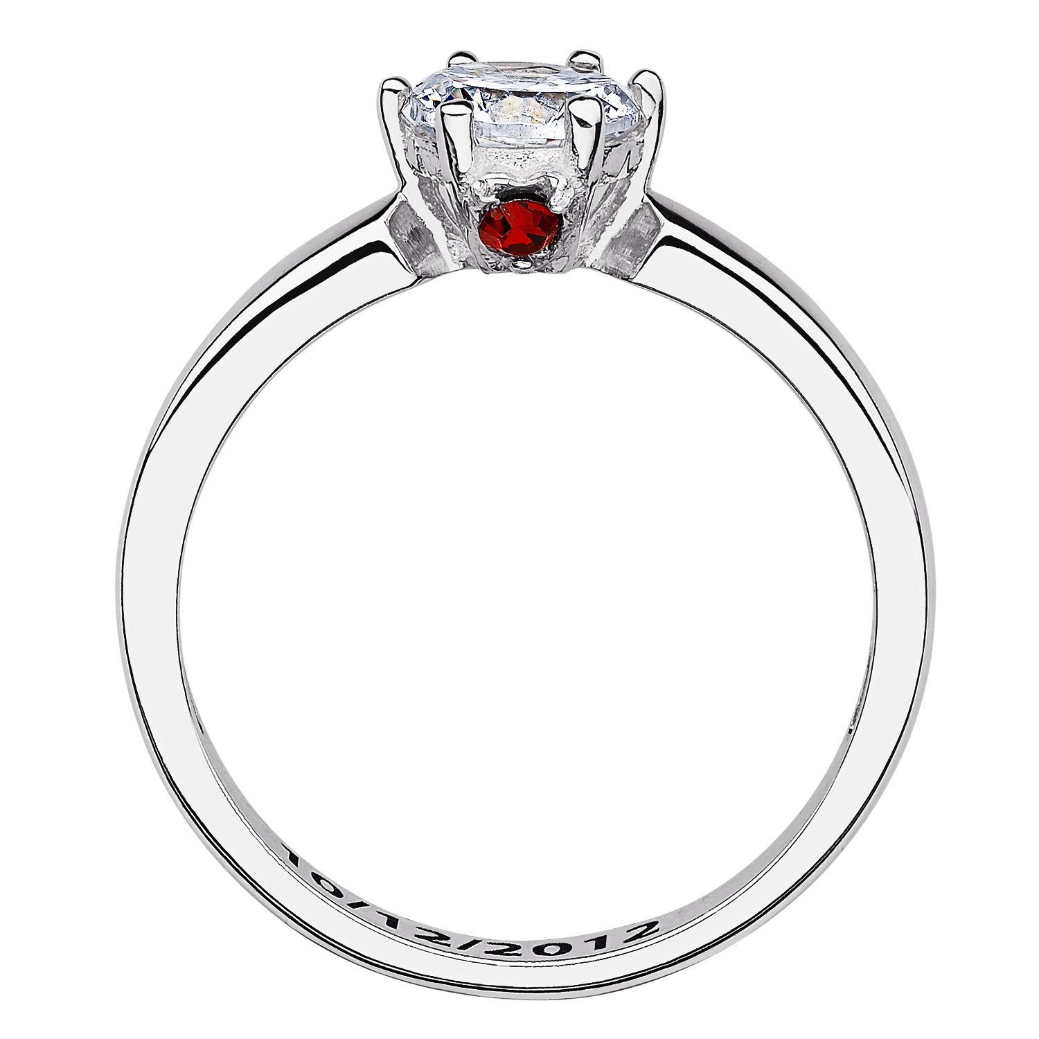 SECRET EXPRESSIONS Sterling Silver CZ Solitaire Hidden