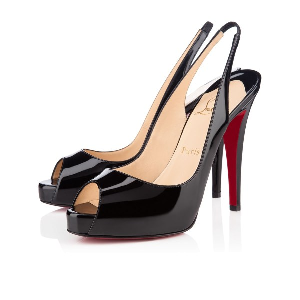 Christian Louboutin Private Number Patent Peep-toe Red