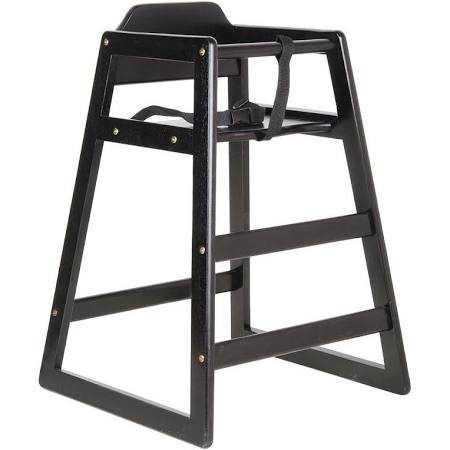 high chair restaurant cover rentals honolulu lancaster seating black finish stacking wood unassembled lan 164hchrkdbk