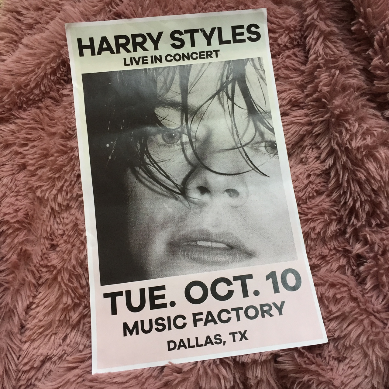 11x17 harry styles concert poster was printed