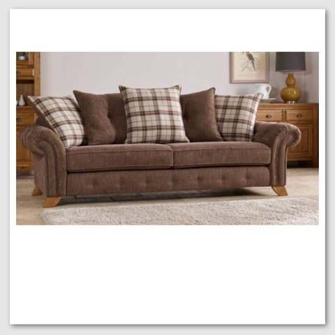 tartan chesterfield sofa ultra suede x2 fabric brown and sofas with matching depop