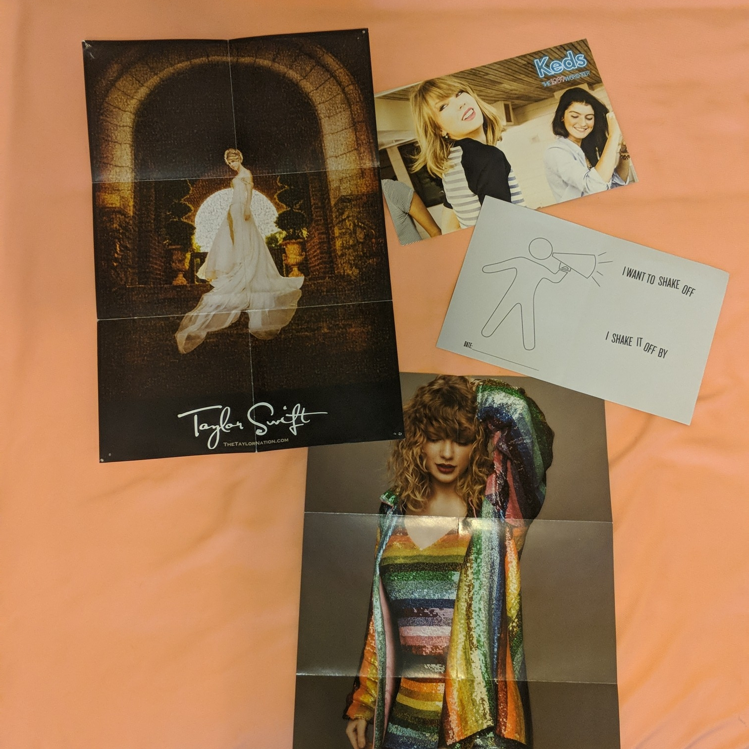 official taylor swift poster collectable cards