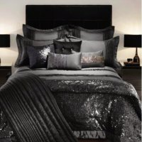 Kylie Minogue bedding throw in black sequin, been used but ...
