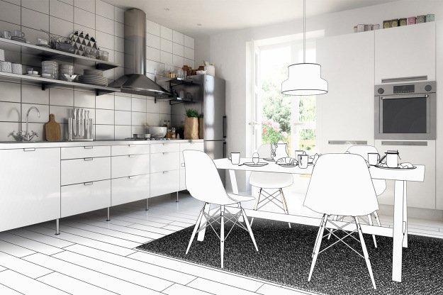 U Kuche Planen Perfect Weie Zweizeilige Kche Von Ikea With U Kuche Planen Great Kleine Kche U