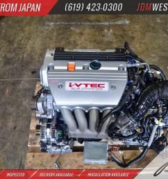 throtl jdm acura tsx type s rbb 2 engine k24a k24 motor i vtec 2 4 [ 4928 x 3264 Pixel ]