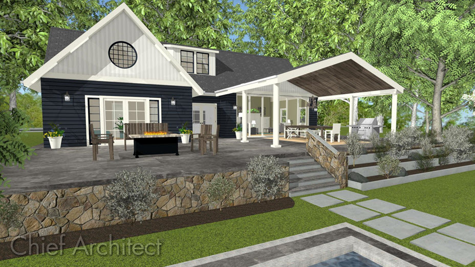 creating a covered patio