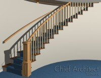 Drawing Curved Walls Next to and Under Curved Stairs