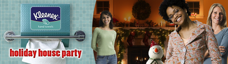 Kleenex® Hand Towels Holiday House Party