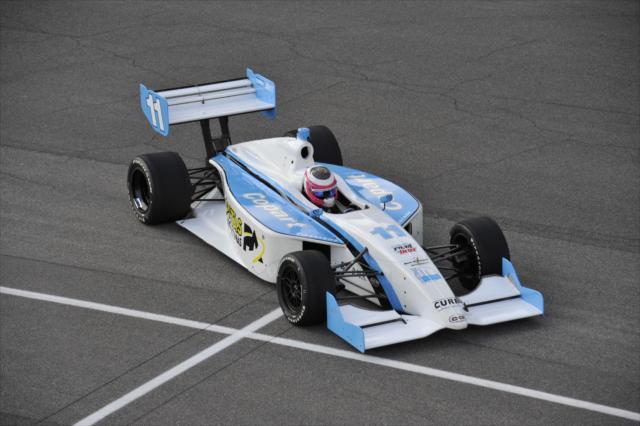 El residente en el estado de Querétaro manejó, en 2012, un vehículo de Schmidt de Indy Lights en Indianapolis (FOTO: Jim Haines/INDYCAR)