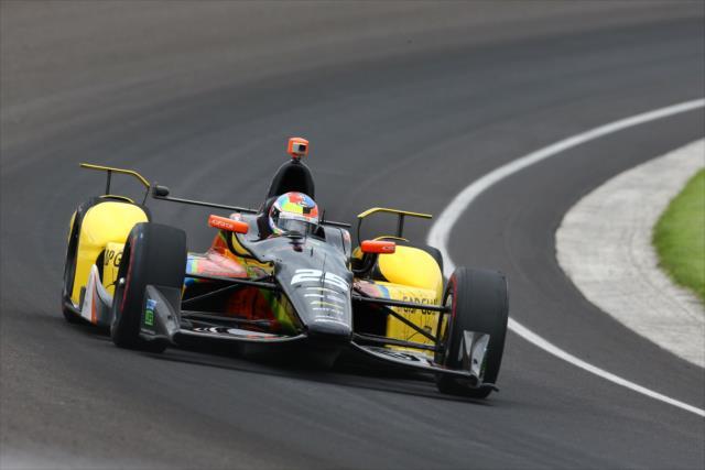 La única participación de Wilson en Indy, en 2015, terminó en abandono (FOTO: Bret Kelley/INDYCAR)
