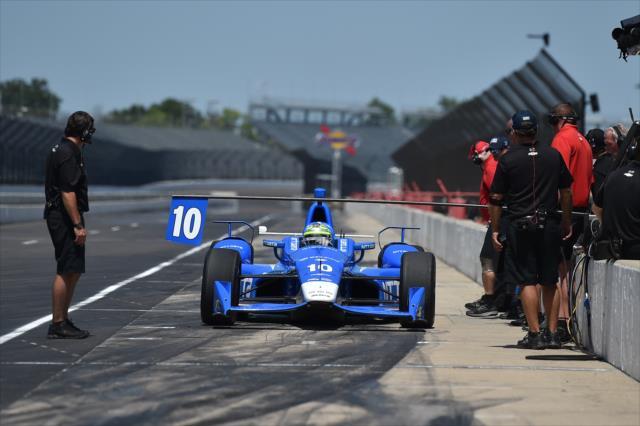 Los autos de IndyCar rodarán en Indianapolis en unos días (FOTO: Chris Owens/INDYCAR)