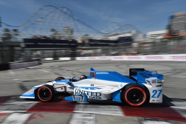 Este fin de semana, Andretti vuelve a tener auspicio de United Fiber & Data (FOTO: Chris Owens/INDYCAR)
