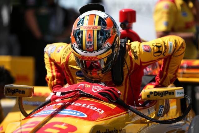 Hunter-Reay fue el mejor representante de Honda en el resultado final (FOTO: Joe Skibinski/INDYCAR)