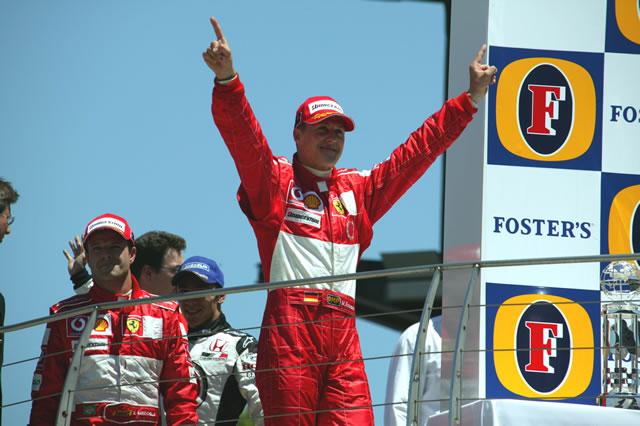 Schumacher ganó el Gran Premio de Estados Unidos en cinco ocasiones (FOTO: Dan Helrigel/IMS Photo)
