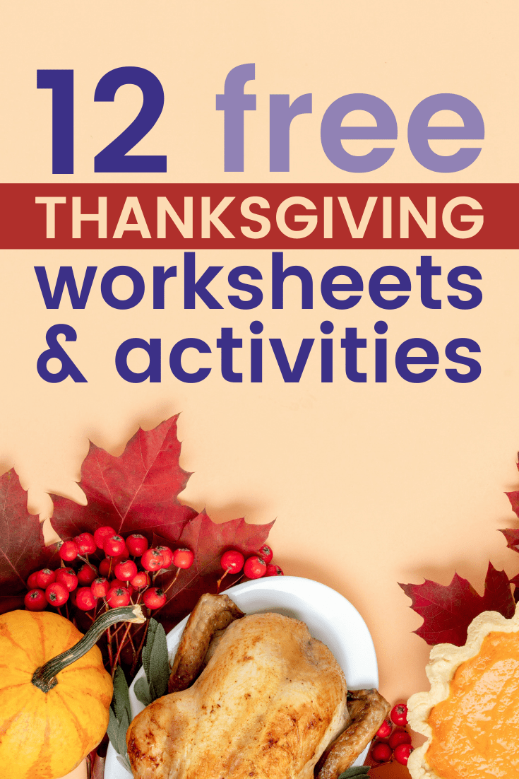 hight resolution of 12 Free Thanksgiving Worksheets \u0026 Activities - Scoot Education
