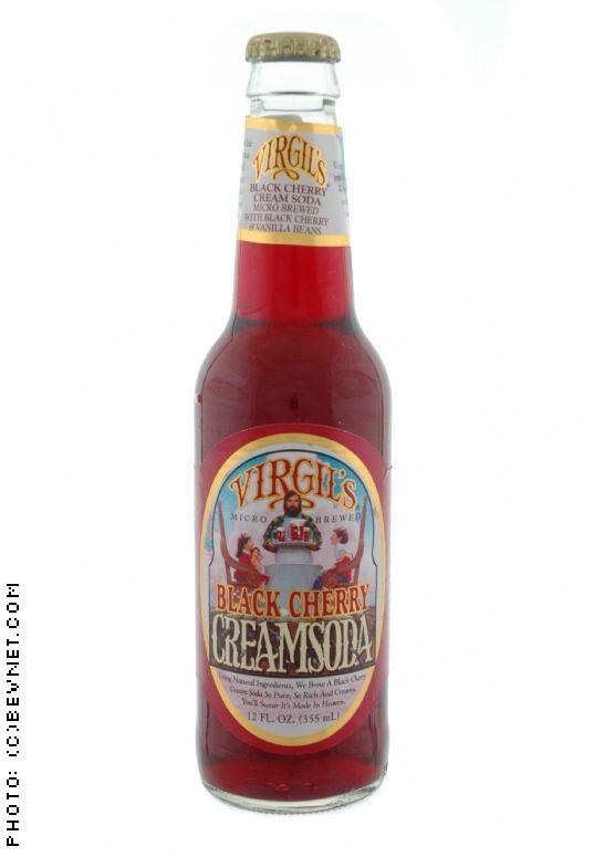 Virgil39s Black Cherry Cream Soda Virgil39s Sodas BevNET