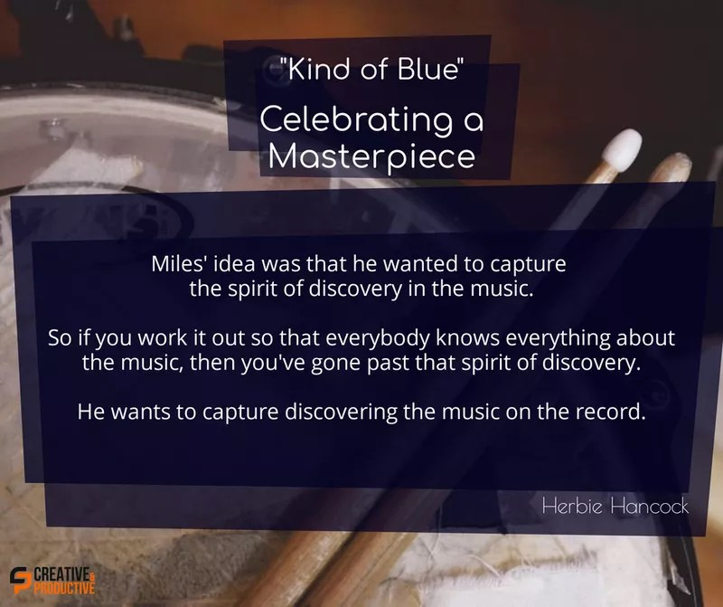 Kind of blue, spirit of discovery