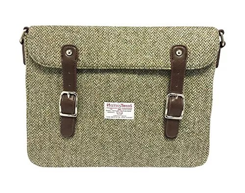 Oatmeal Harris Tweed laptop bag