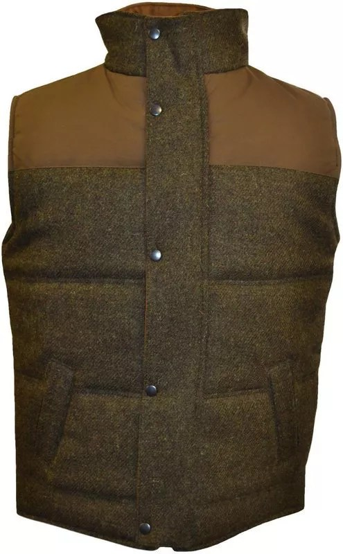Brown tweed gilet
