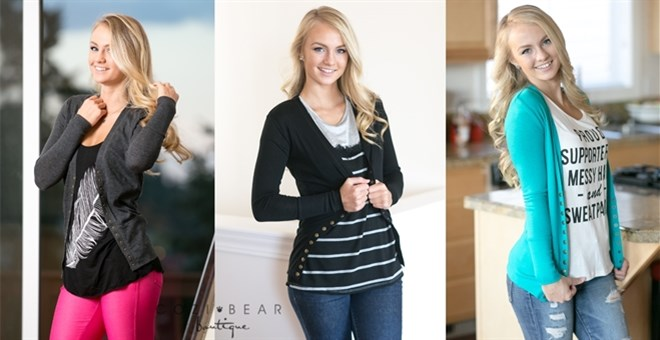 Snap Button Cardigan | New Colors!