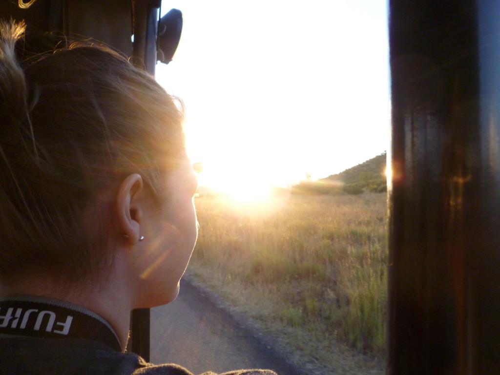 Me on safari in Pilanesberg National Park, South Africa