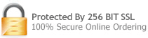 Protected By 256 bit SSL 100% Secure Online Ordering