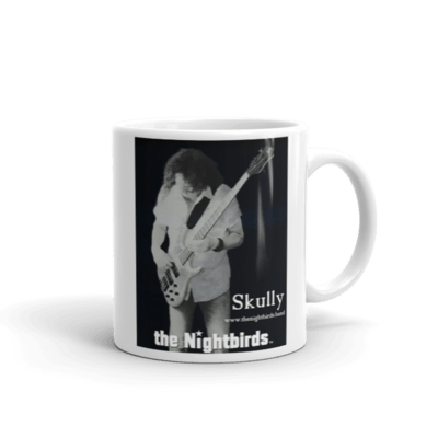 the Nightbirds Coffee Mug, Cup Featuring Skully on Bass