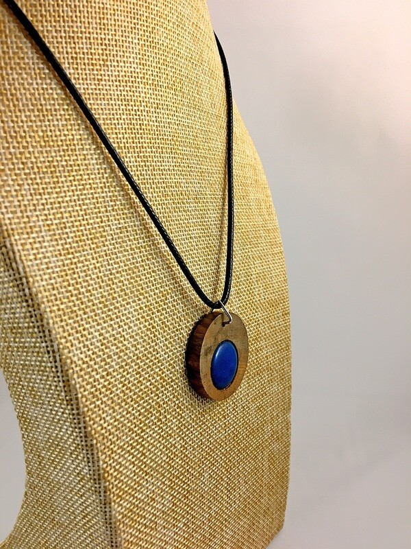 Blessington Driftwood Dot Pendants - Blue