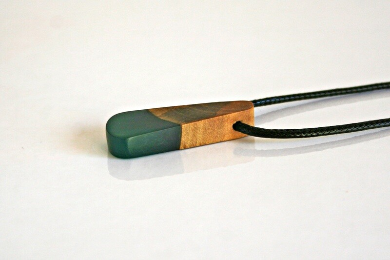 Dublin Bay Drift Wood Collection: Small Aqua Blue pendant