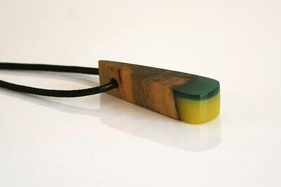Dublin Bay Drift Wood Collection: Small Yellow Green Pendant