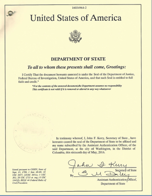 State Level Apostille/Authentication