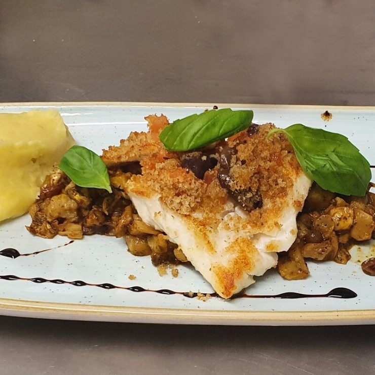 Secondo piatto: Filetto di salmone in crosta aromatica