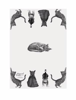 Casual Cats Tea Towel by Ashdens