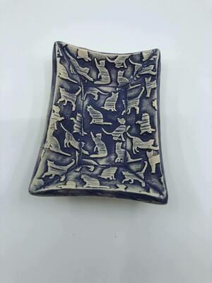 Hand made rectangle ceramic dish