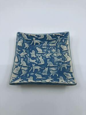 Handmade square ceramic dish