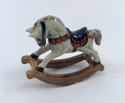 Miniature Porcelain Rocking Horse