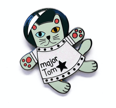 Major Tom Cat Pin by Blossom and Cat