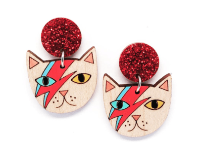 Mr Meow Glitter Dangle by Blossom and Cat