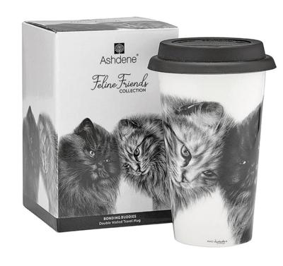 Bonding Buddies Cat Travel Mug by Ashdene