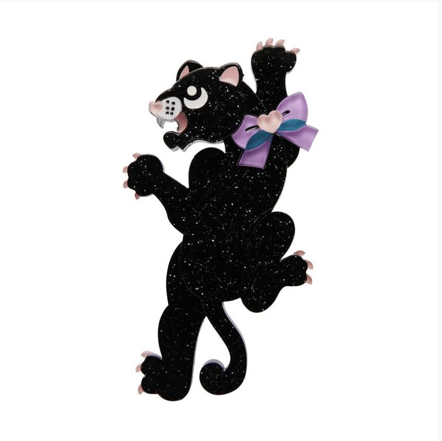 Panther Enchanter Brooch by Erstwilder