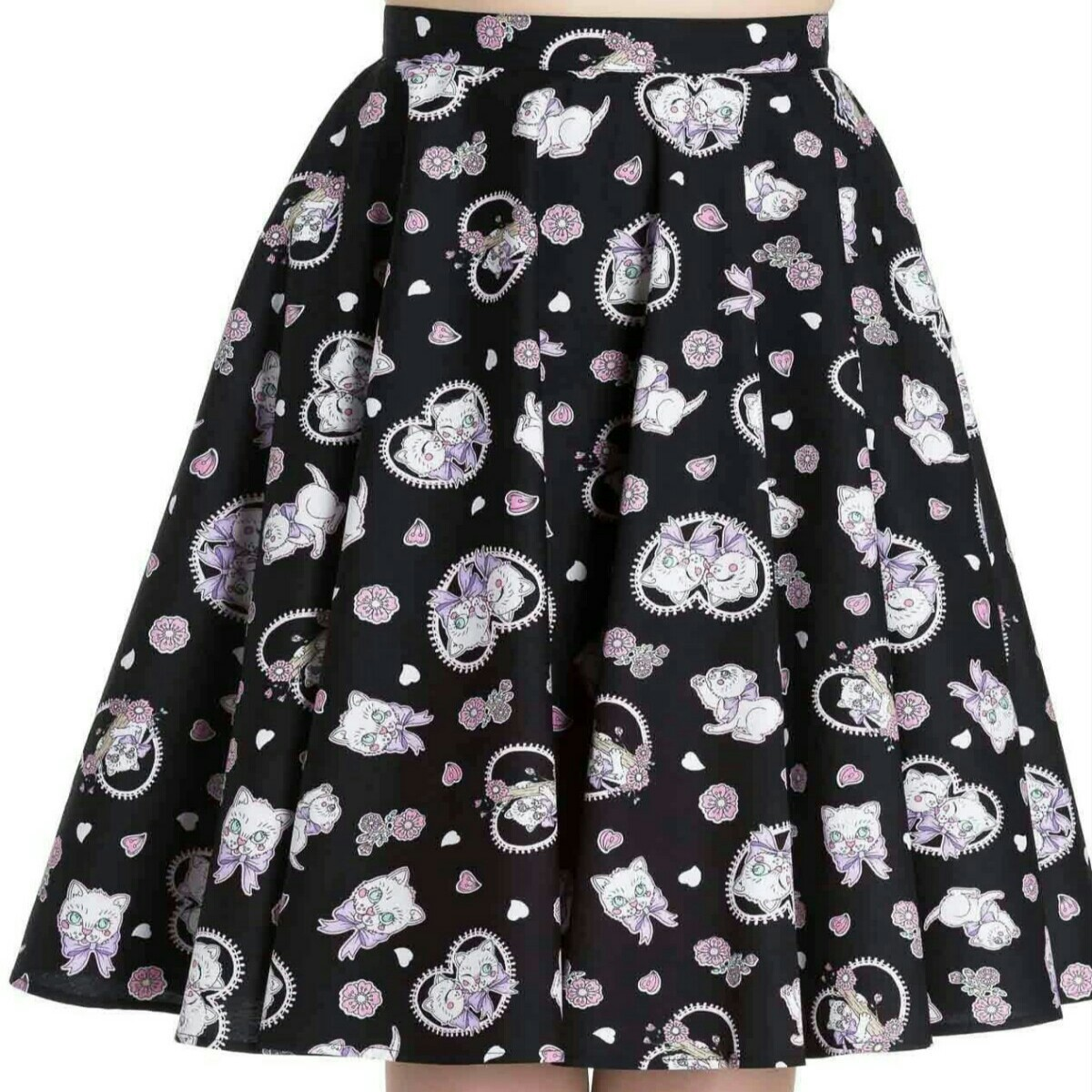 Hell Bunny skirt in adorable cat print