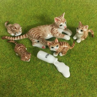 Who spilt the milk? Miniature Cat Family