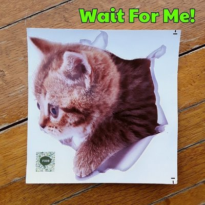 Wait For Me! Decal (F009)