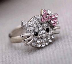 Hello Kitty Style Ring