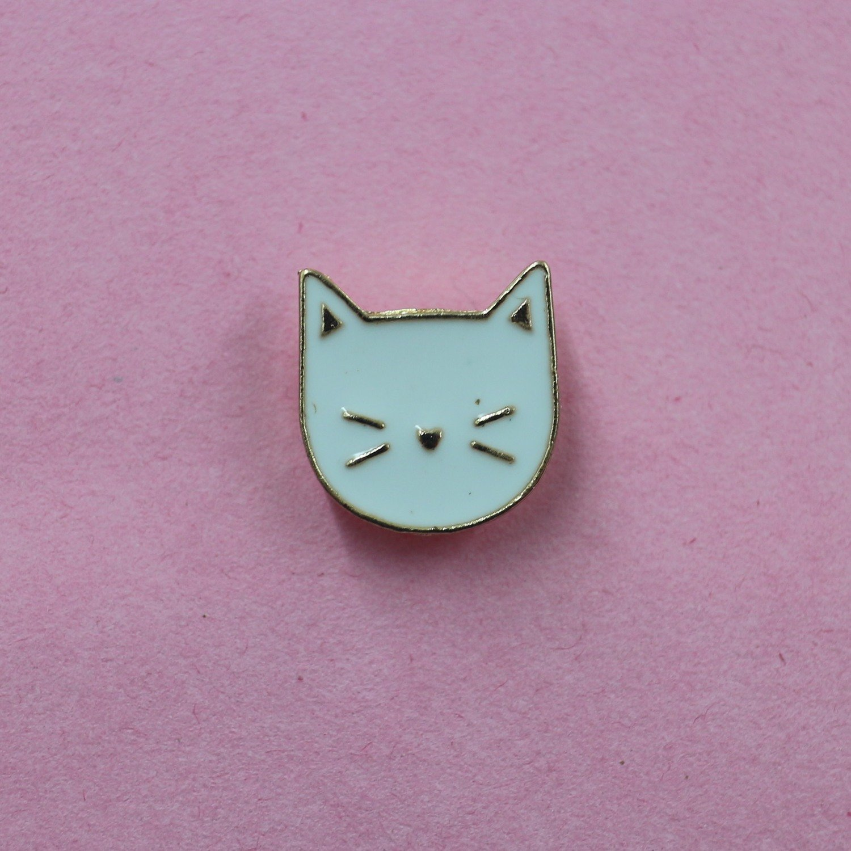 Kitty Face Enamel Pin