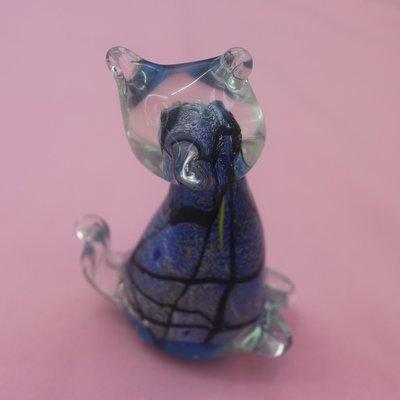 Glass Cat Figure