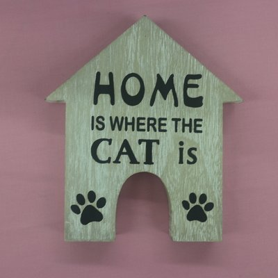 Home Is Where the Cat Is - Mini Sign